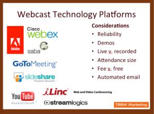 Webcast Technology Platforms