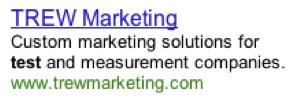 TREW Marketing Google Ad