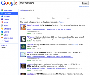 """Google Search Results by """"Update"""" Filter"""