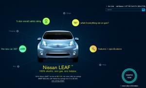 Nissan Leaf Microsite