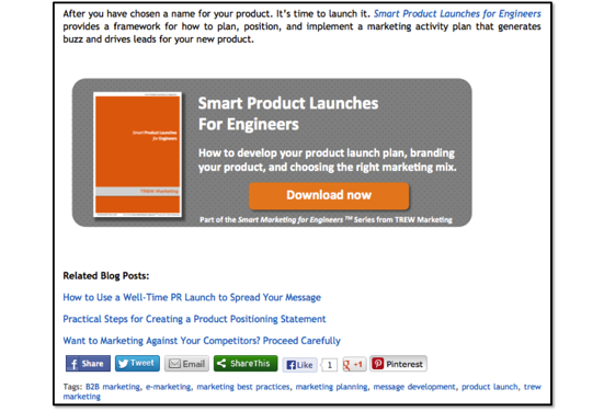 An example of one of our CTA banners, driving our blog readers to download our ebook.
