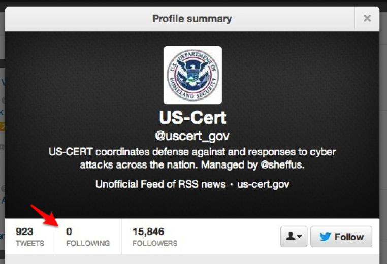 US-Cert Twitter Account