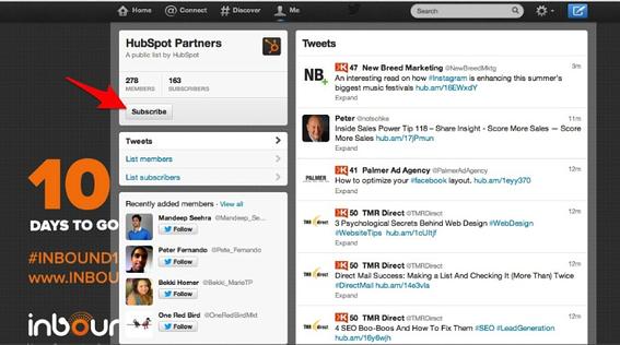 HubSpot Parnter Twitter