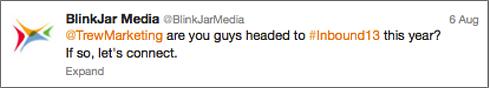 Blink Jar Tweet