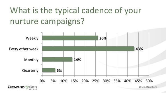 What is the typical cadence of your lead nurture campaigns?
