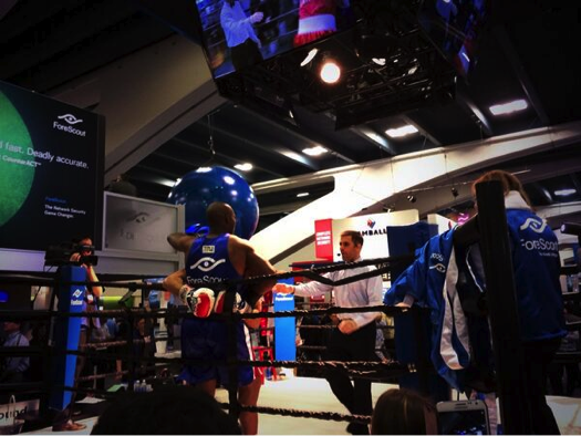 Foursqaure boxing at RSA Conference - Foursqaure v. hacker