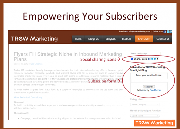 Empowering your blog subscribers