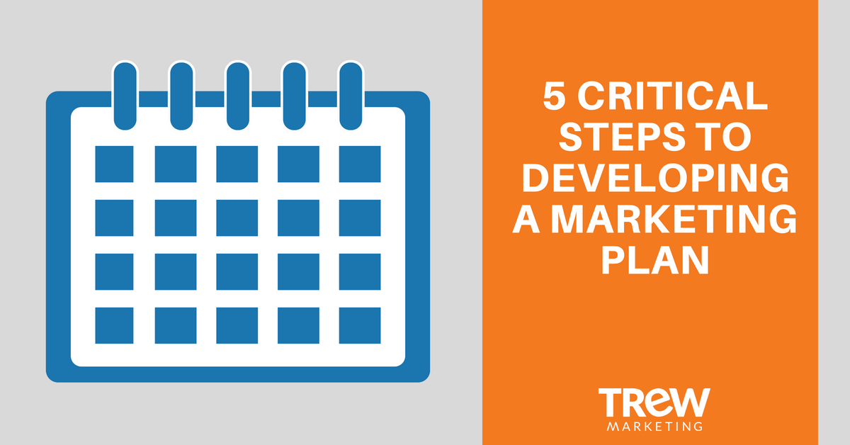 5 critical steps to developing a marketing plan