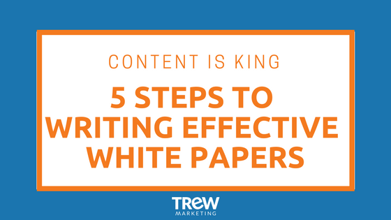 5 steps to writing whitepapers