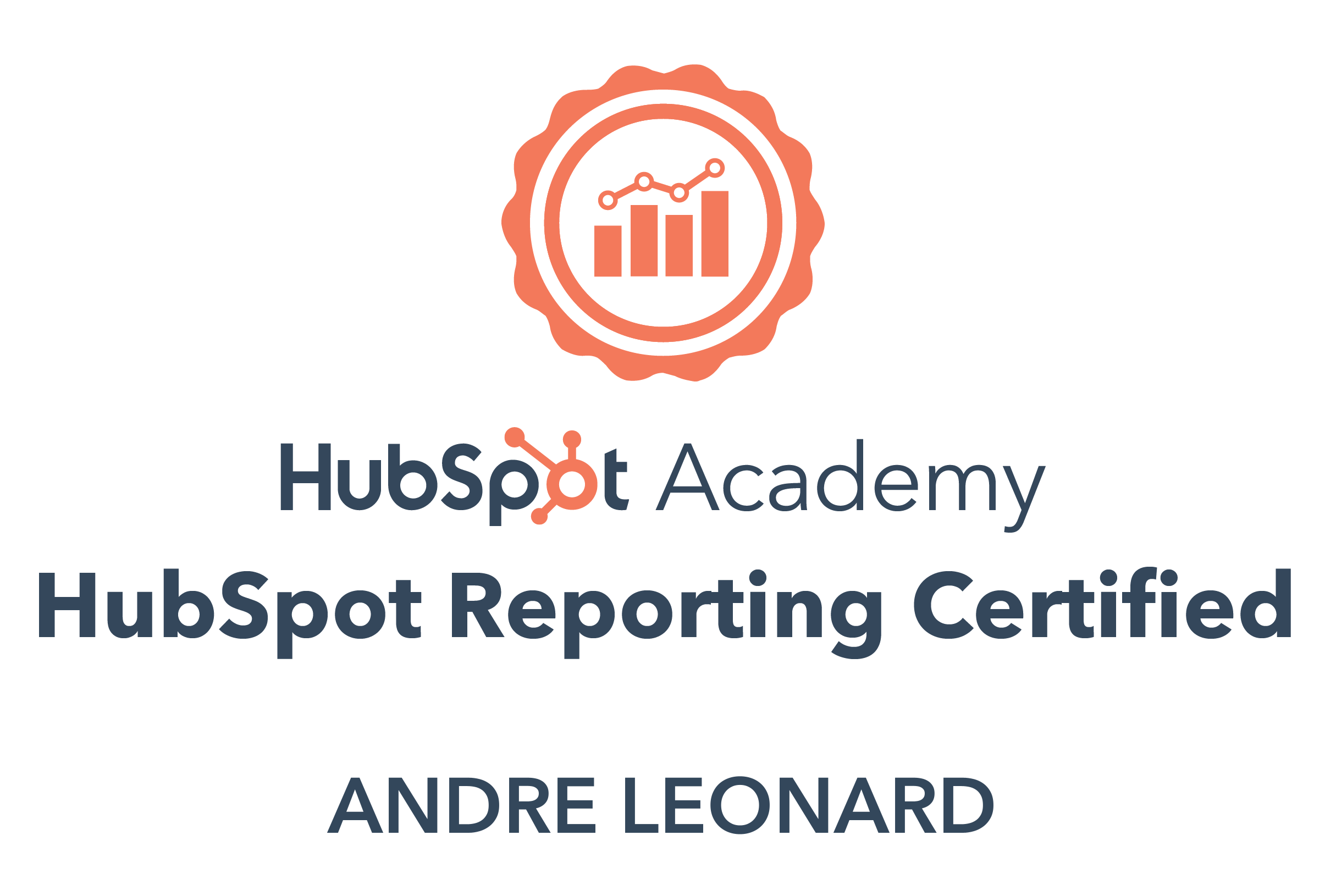 Andre - HubSpot Reporting Certification