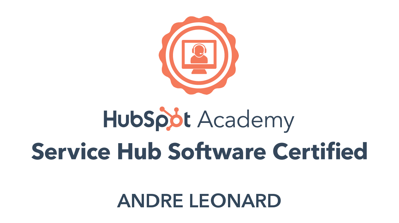 Andre - Service Hub Software Certification