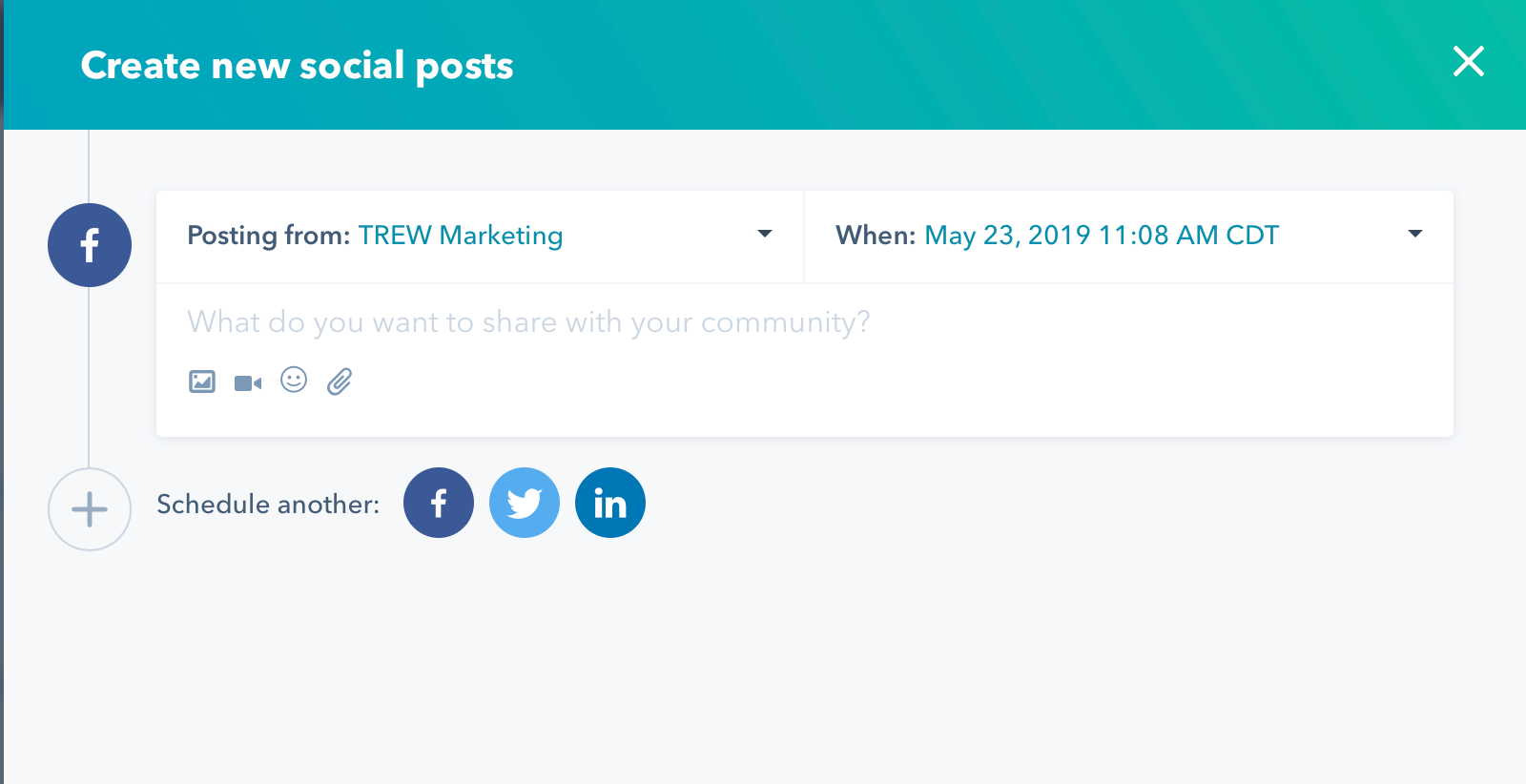schedule social post