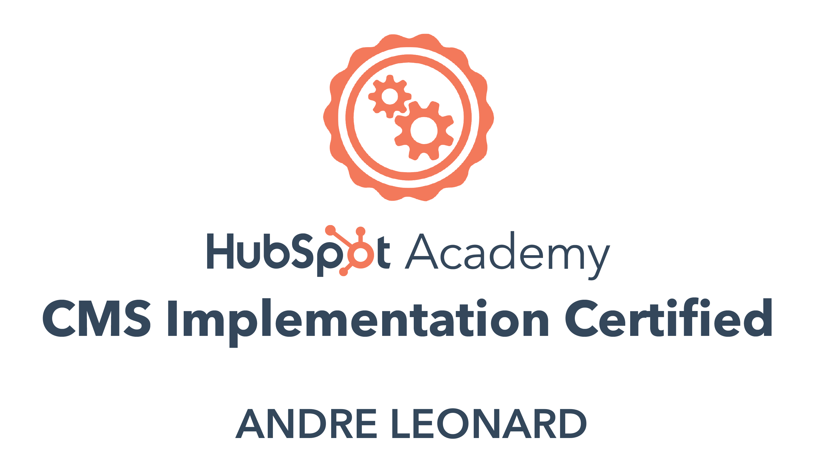 Andre - CMS Implementation Certification