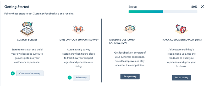 Feedback Surveys Screenshot