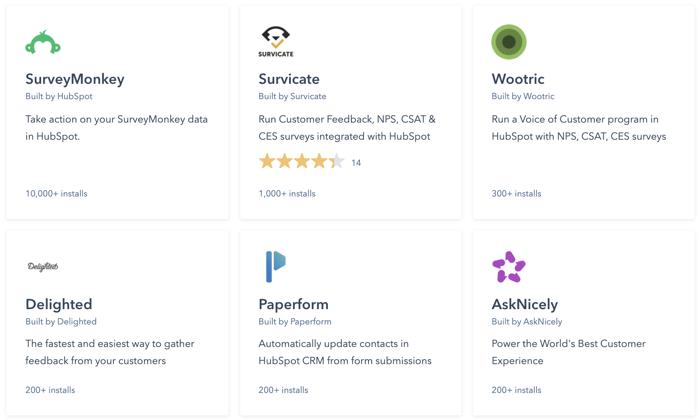 HubSpot Survey Integrations