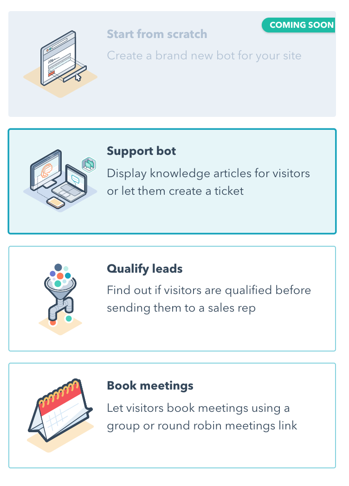 HubSpot service hub bot