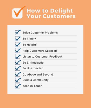 Delight Customers Checklist