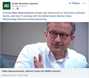 Hiller Austin Business Journal coverage