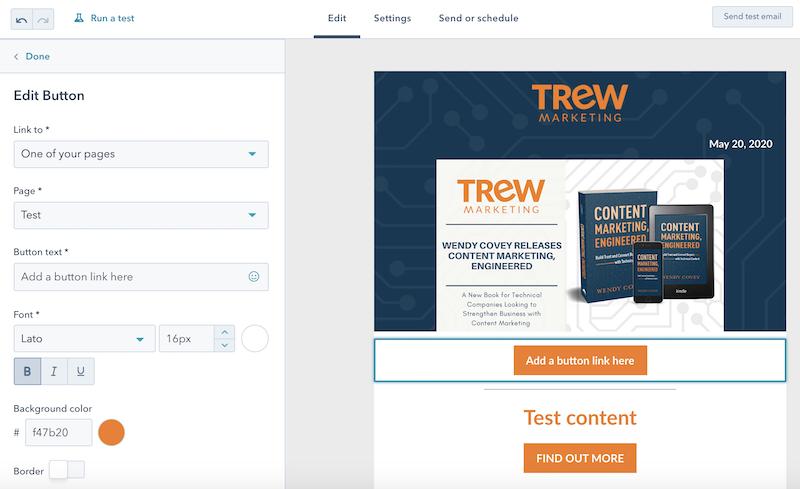HubSpot Marketing hub email example