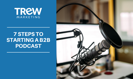 7 steps to B2B podcast mic canva