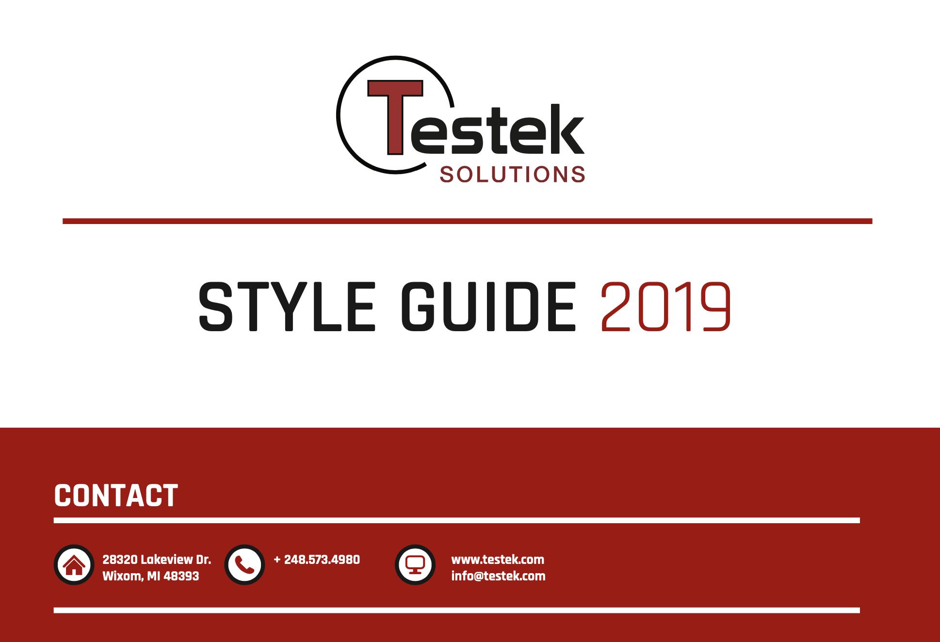 testek style guide