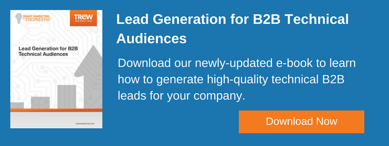 An example CTA to download TREW's lead gen ebook