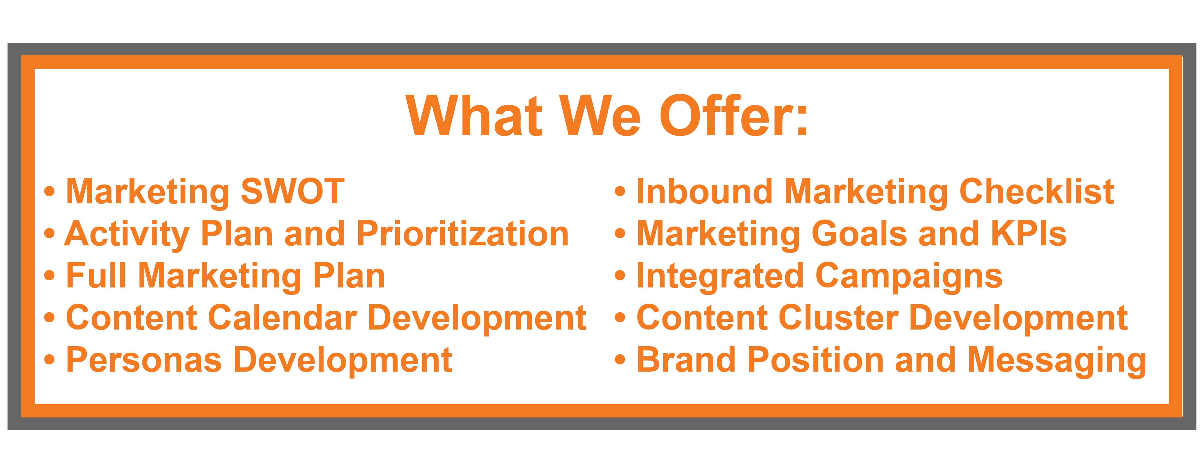 Marketing Planning Deliverables 2-1