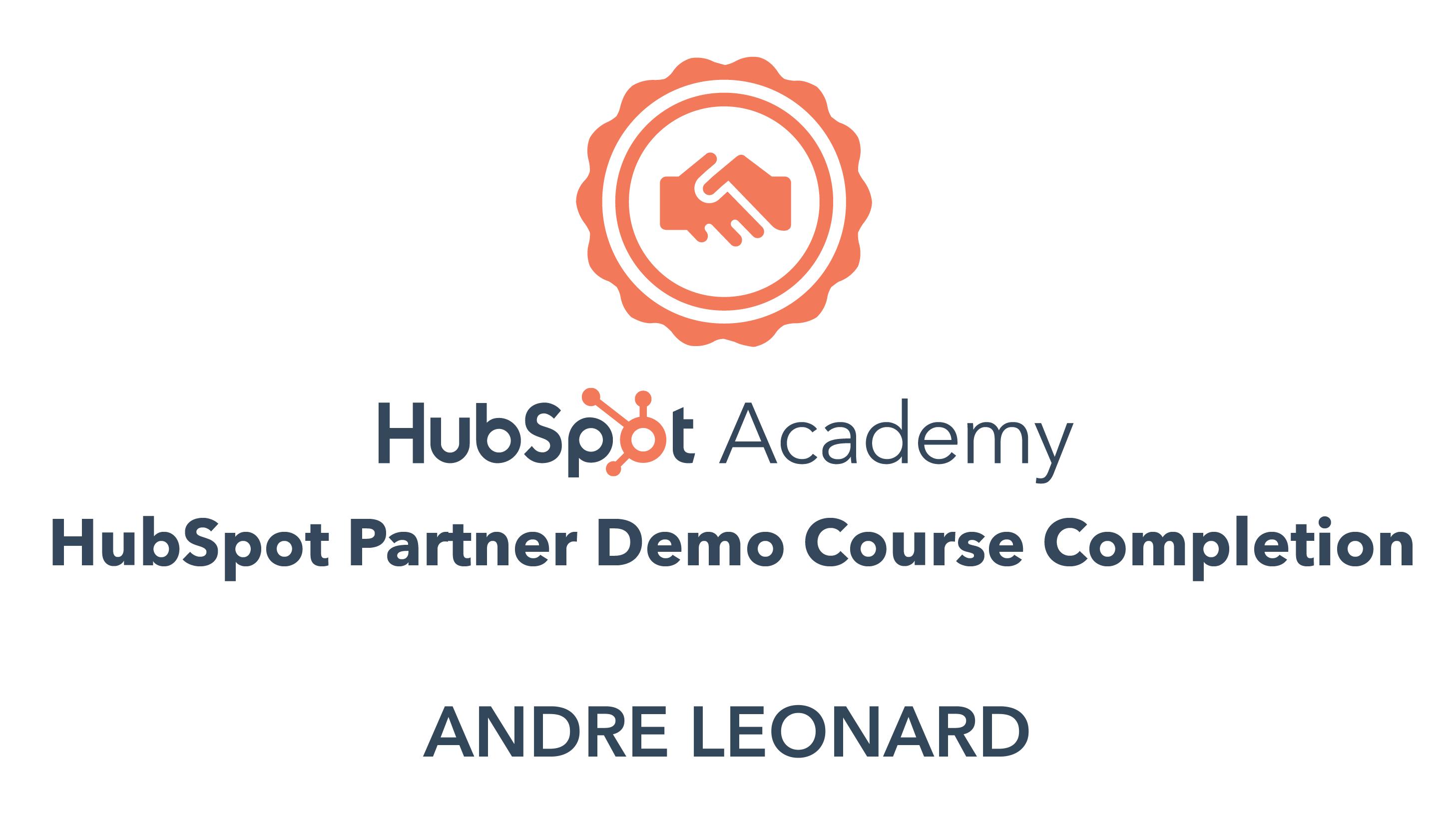 Andre - Partner Demo Course Certification