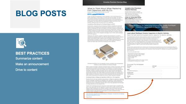 Smart Marketing Blog: Knowles Precision Engineering Blog Post Graphic