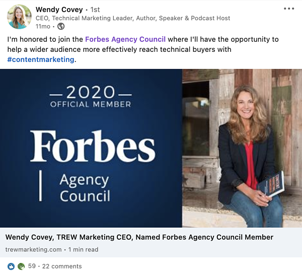 Wendy - Forbes Agency Council