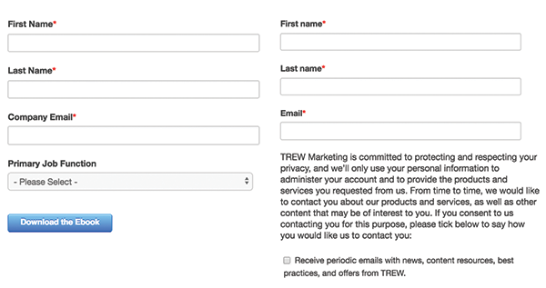 default and smart content form