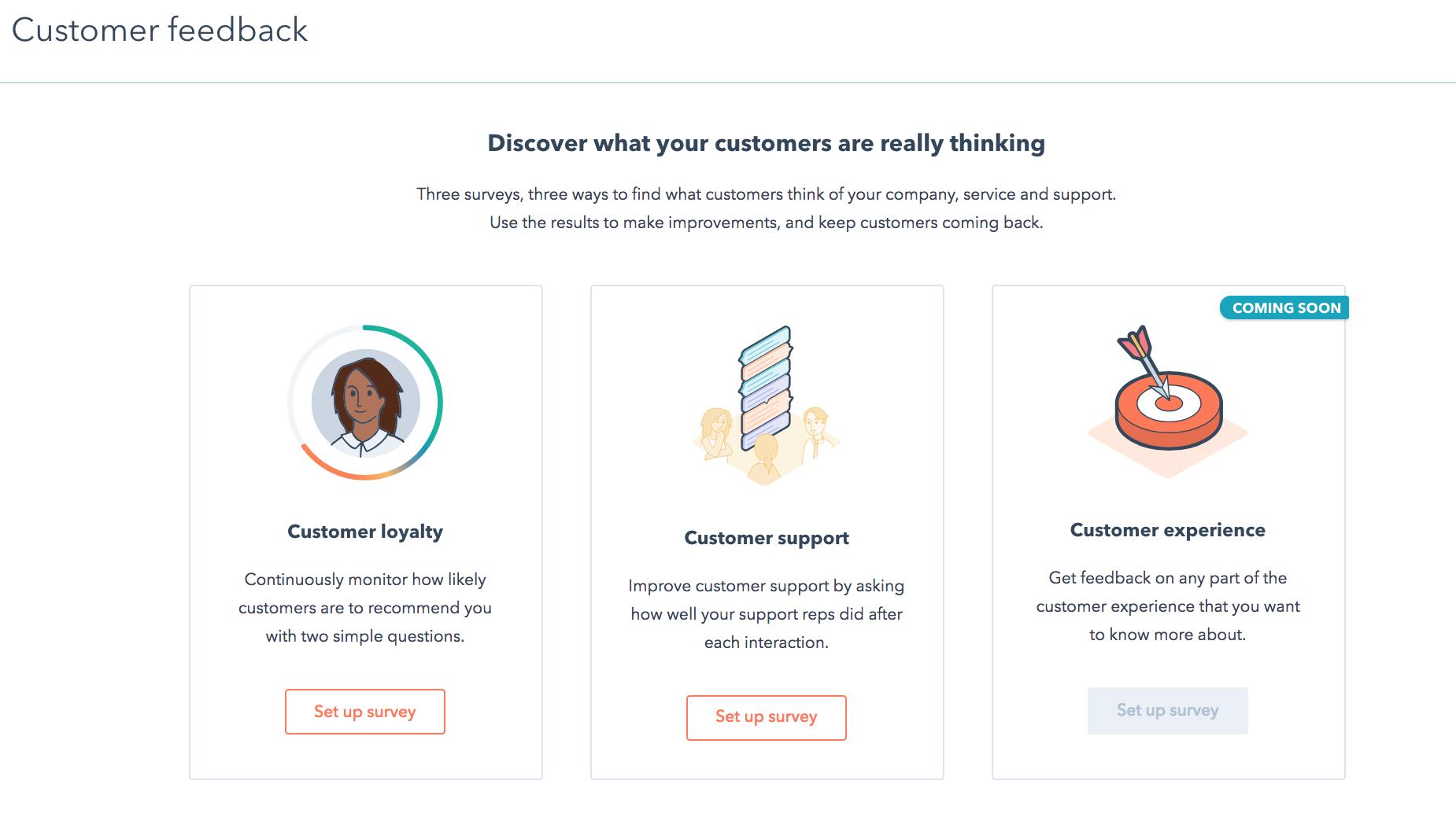 hubspot service hub survey