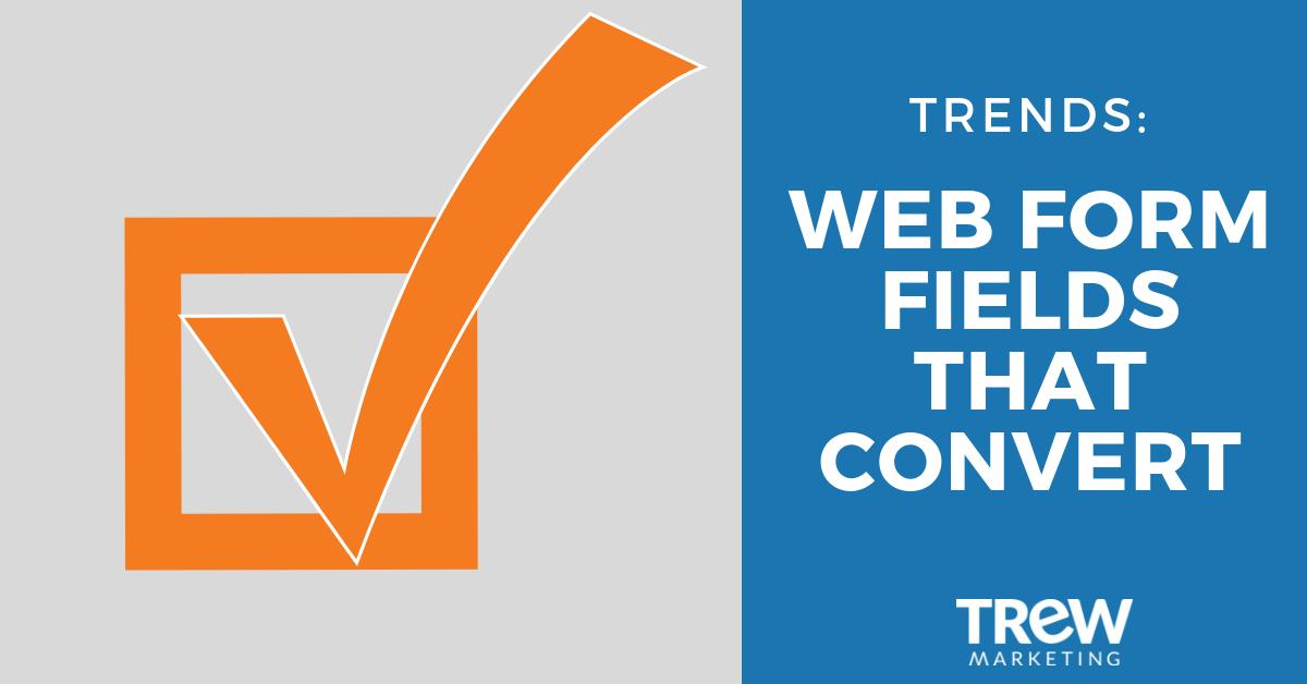 web form fields that convert